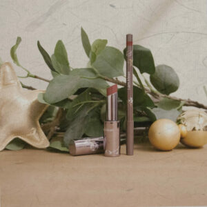 Cadeauset / Lipstick powerful + lippencil purple rain